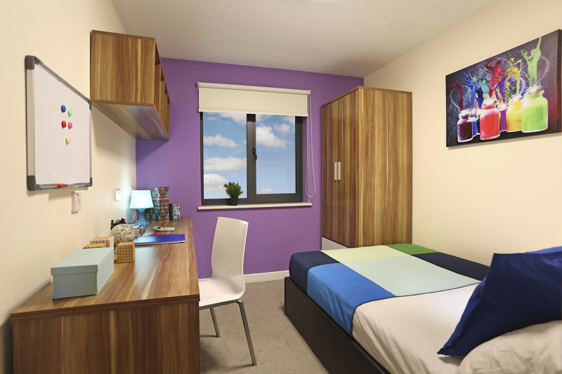 student accommodation bedroom in Canterbury