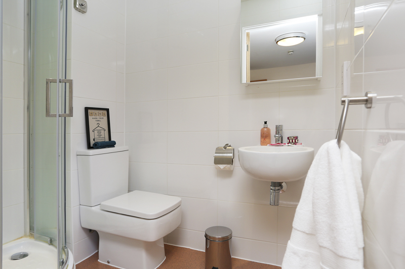 Bathroom in student accommodation for Canterbury Student Village