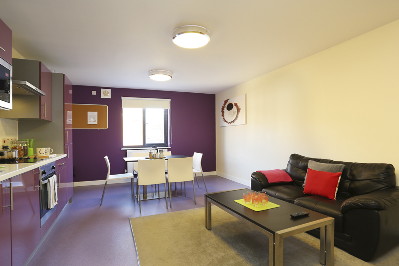 social lounge in Canterbury Student Village