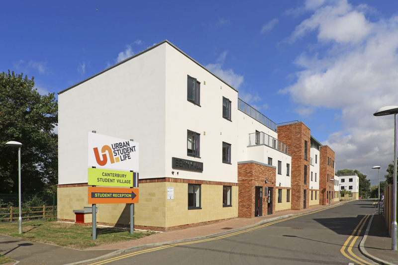 Outside of Canterbury Student Village