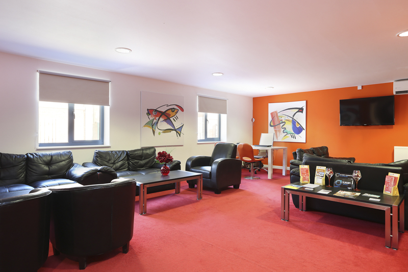 social lounge in student accommodation Canterbury Student Village