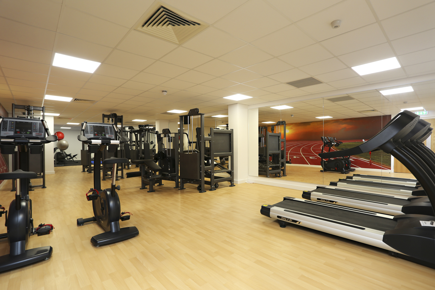 Gym room in Keele house