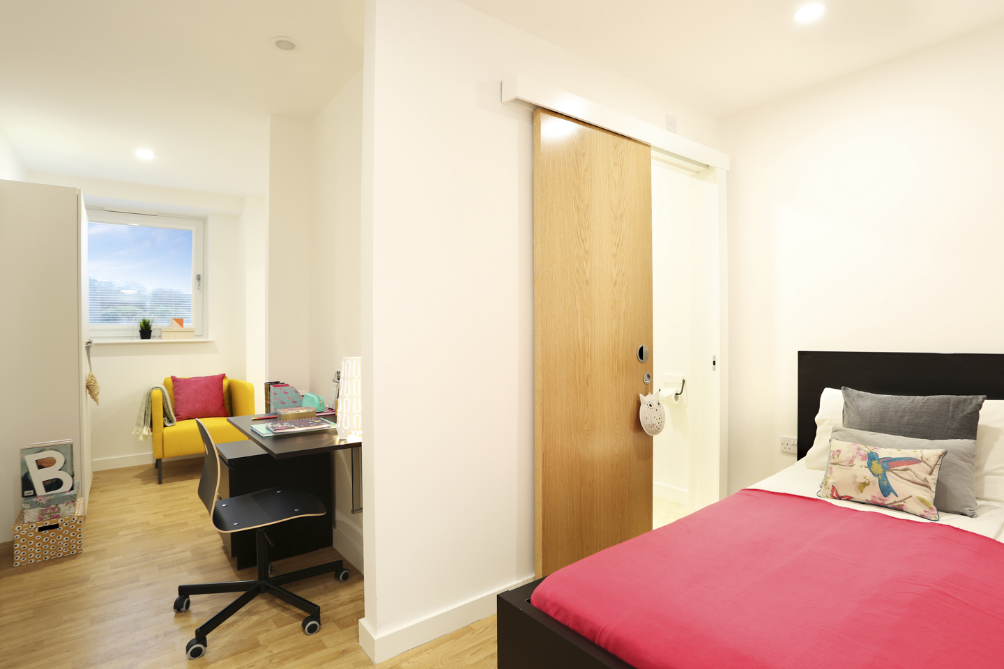 Sleeping area for students in Keele House