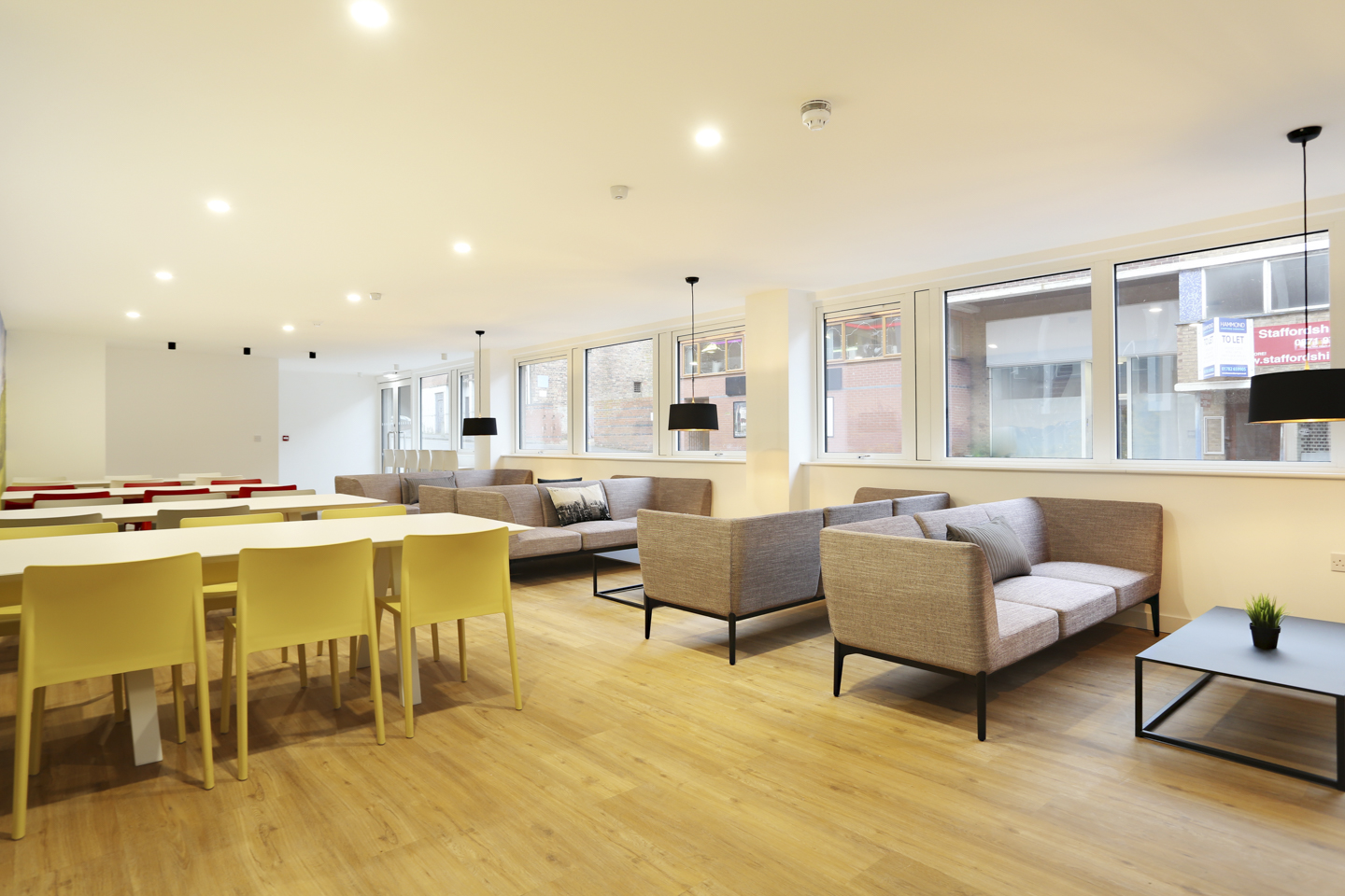 Communal area for students in Keele house