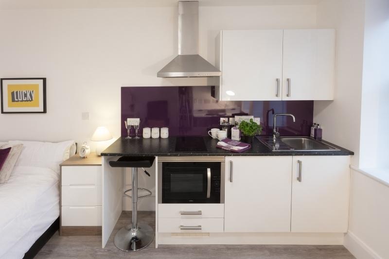 Nottingham student accommodation kitchen express building