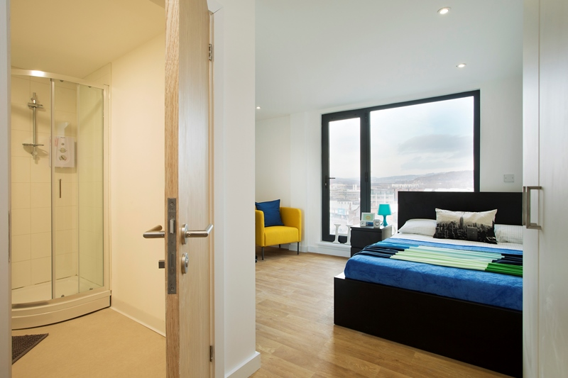 student accommodation westbar house bedroom