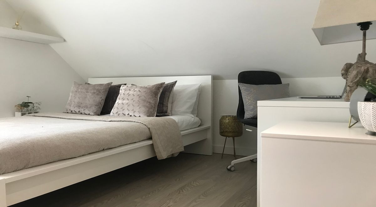 Bedroom of studio student accommodation