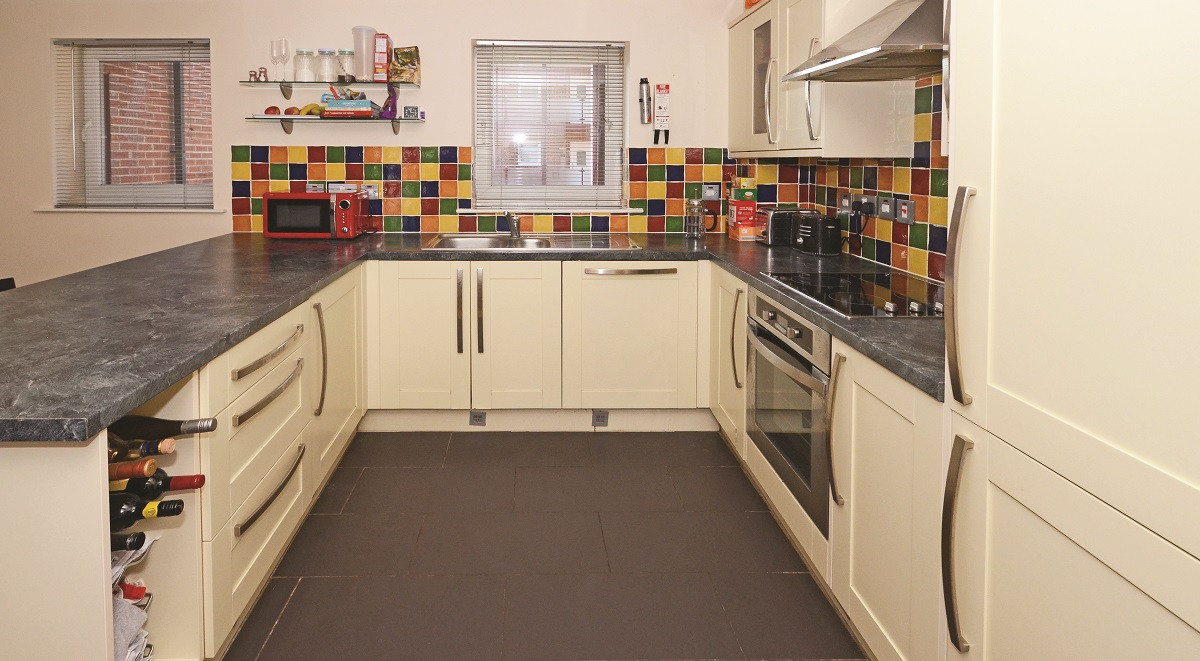 Newcastle-under-Lyme student accommodation kitchen area