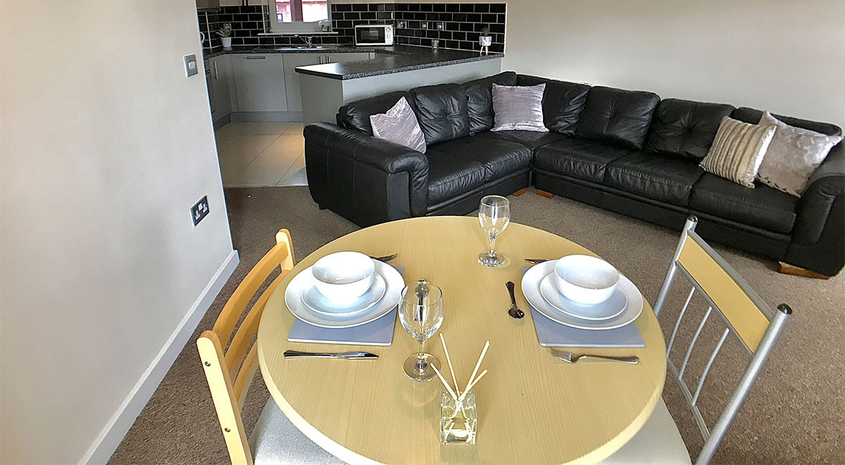 Dining area for students in Newcastle-under-Lyme