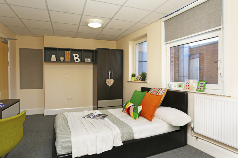 KP House student accommodation bedroom