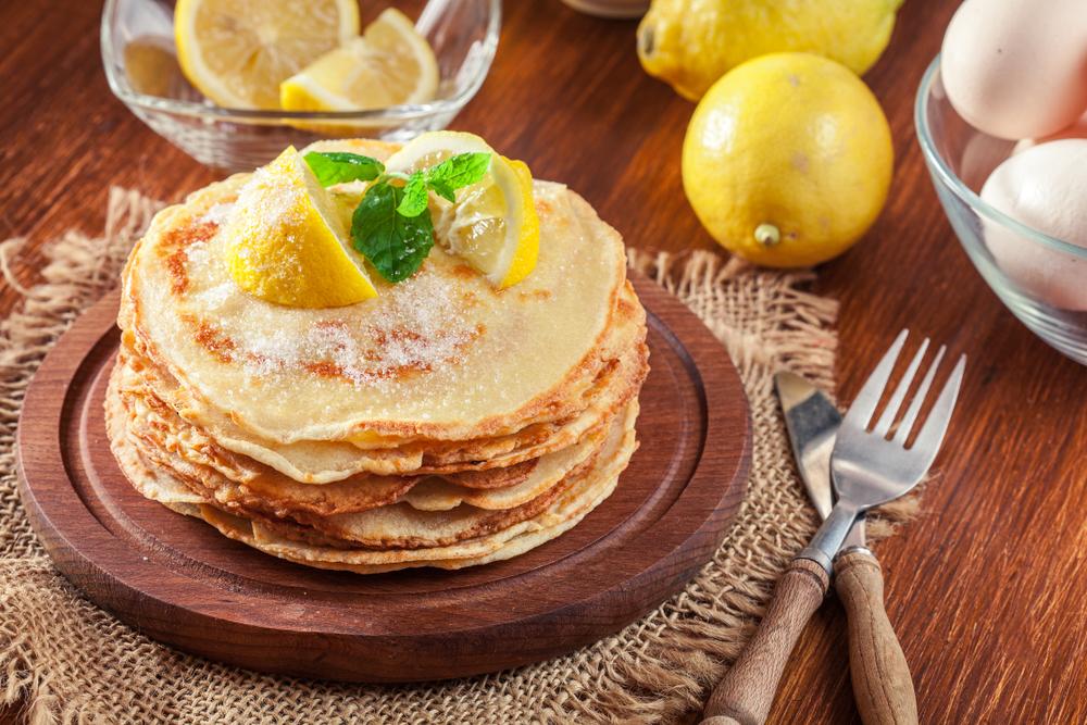 lemon & sugar vegan pancakes