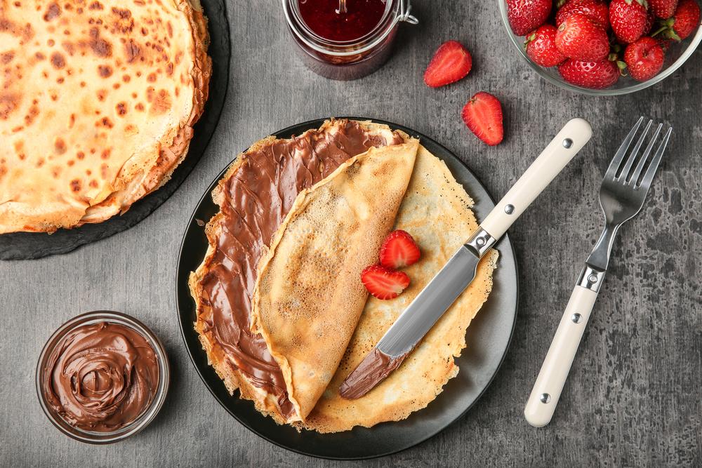 easy vegan pancake recipe strawberry and chocolate