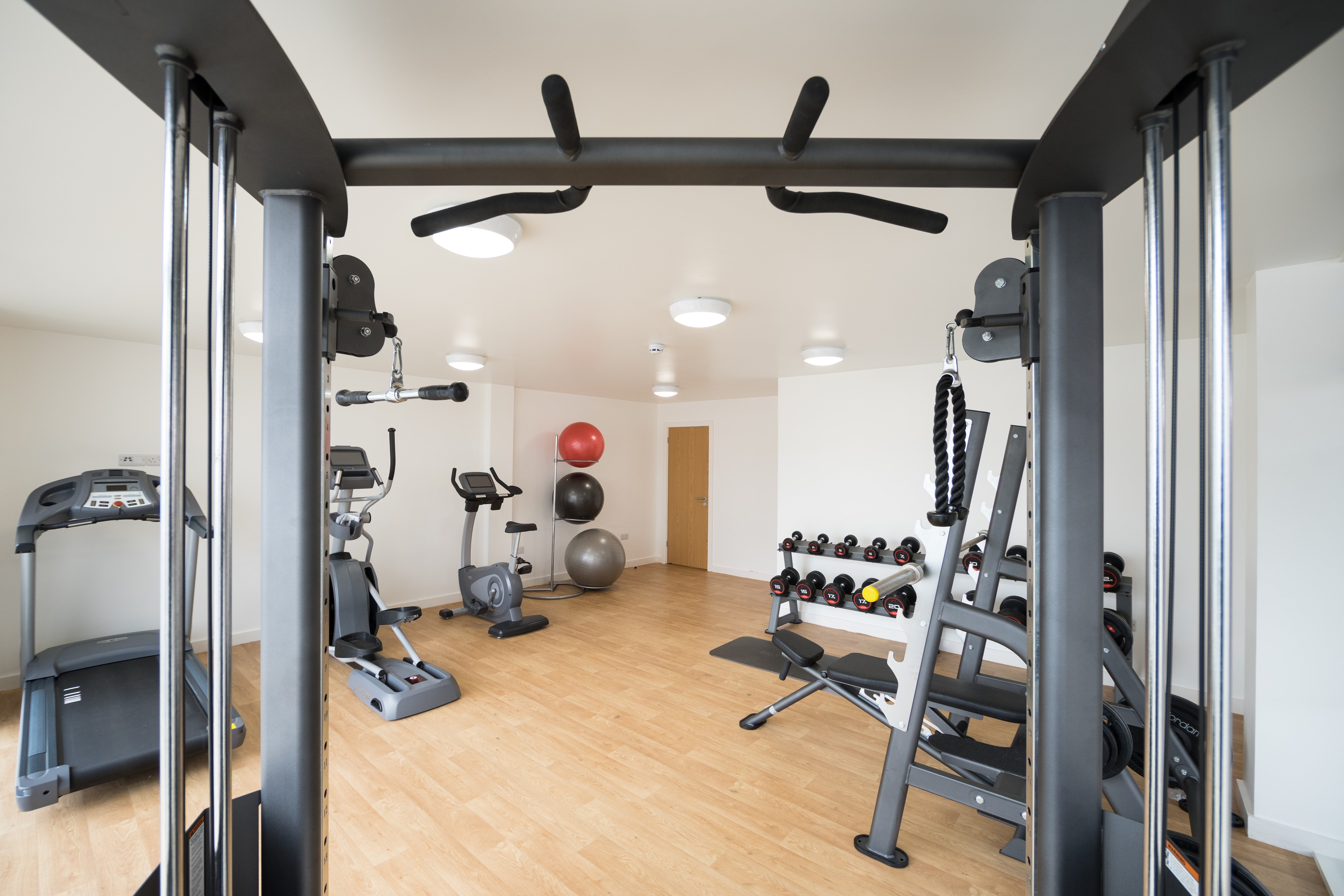 fitness room for students in The Pavilion leeds