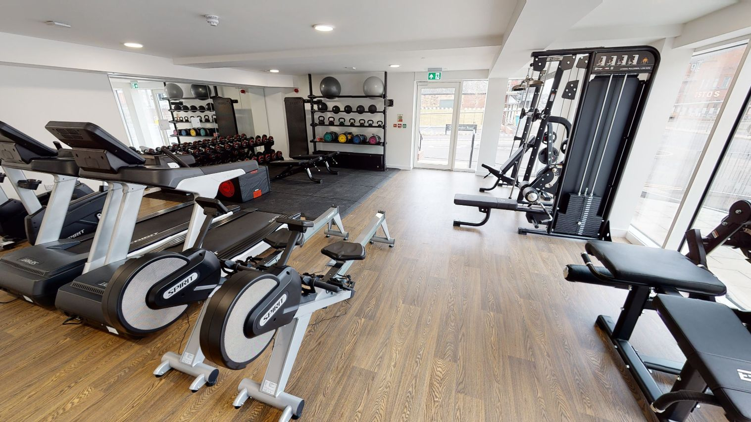 cardio area One London Road Newcastle under lyme student accommodation