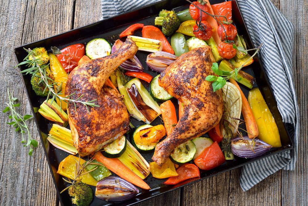 chicken traybake recipe leek