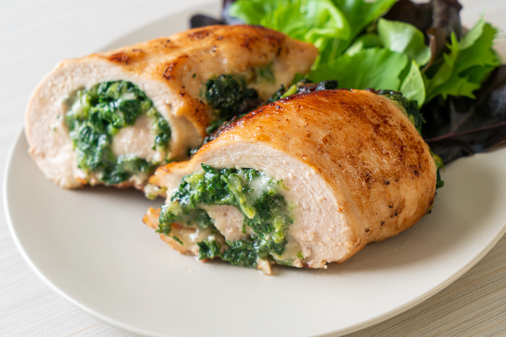 spinach ricotta and chicken traybake recipe