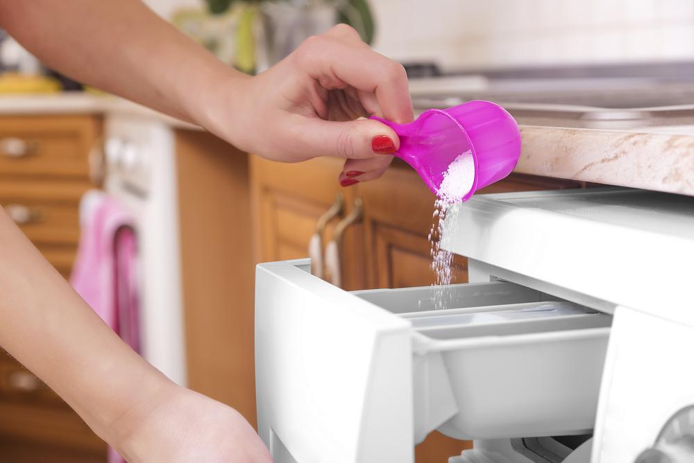 powder in the detergent drawer