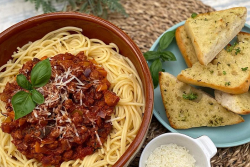 spag bol for students